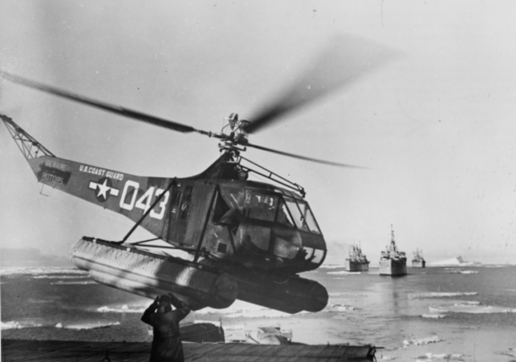 Sikorsky R-4 helicopter operating during Operation Highjump