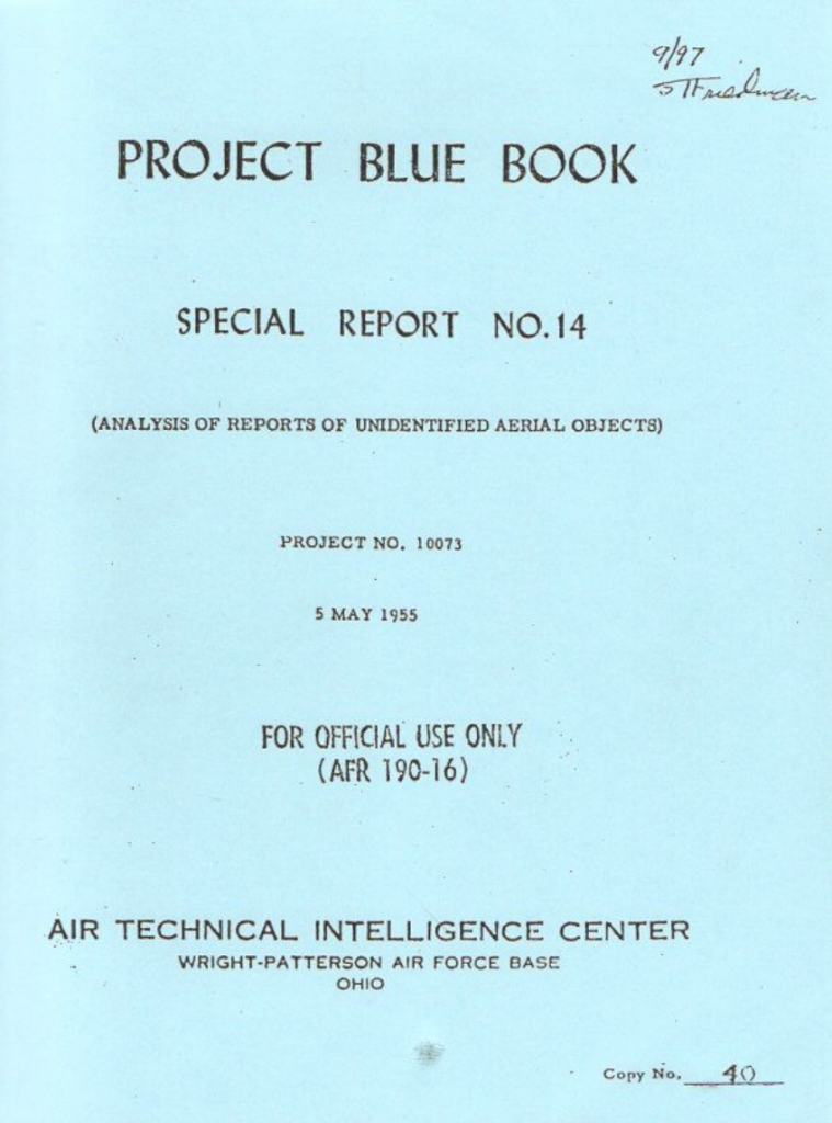 Project Blue Book Special Report No. 14